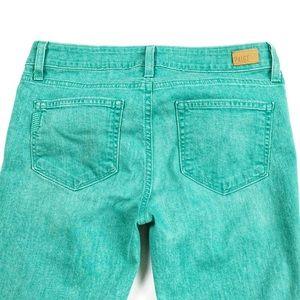 PAIGE Verdugo Ultra Skinny Stretch Mint Jeans 28